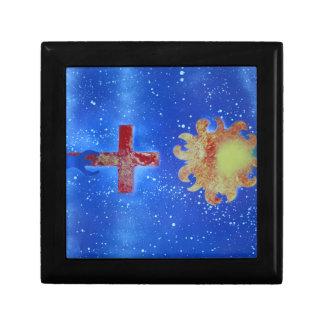 man cross sun blue spraypaint jewelry box