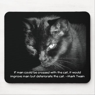 Man crossed with cat? Mark Twain Mouse Pad