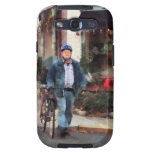 Man Crossing Street With Bicycle Samsung Galaxy S3 Case