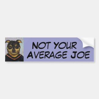 Man Dog Joe Car Bumper Sticker
