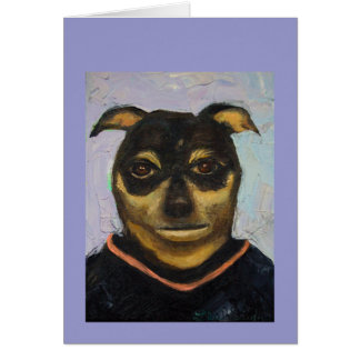 Man Dog Joe Greeting Card