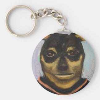 Man Dog Joe Basic Round Button Keychain