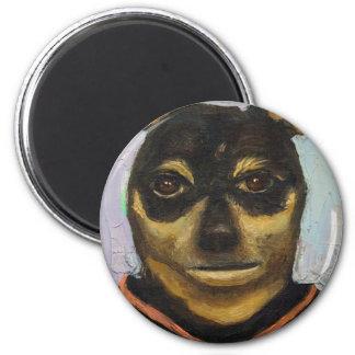 Man Dog Joe 2 Inch Round Magnet