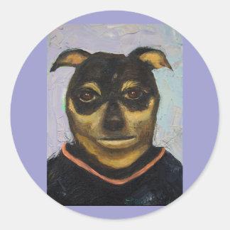 Man Dog Joe Classic Round Sticker
