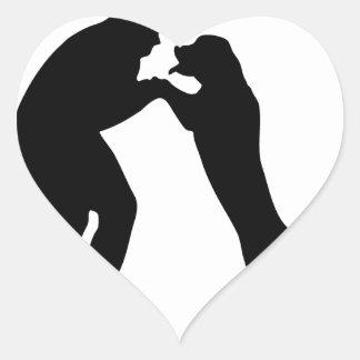 Man-Dog_Sillouette.pdf Heart Sticker