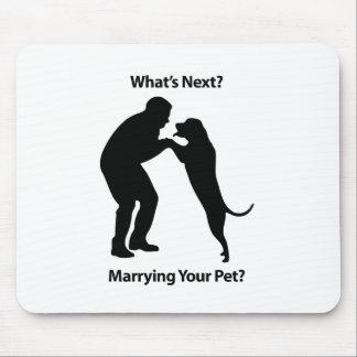 Man-Dog_Sillouette.pdf Mouse Pad