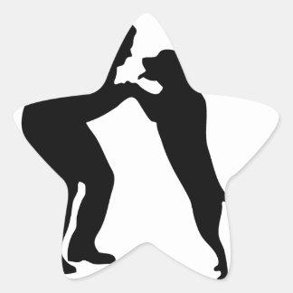 Man-Dog_Sillouette.pdf Star Sticker