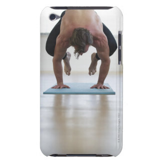 Man doing workout on yoga mat iPod touch covers