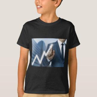 Man draws stock price touchscreen concept T-Shirt