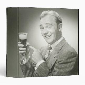 Man Drinking Binder