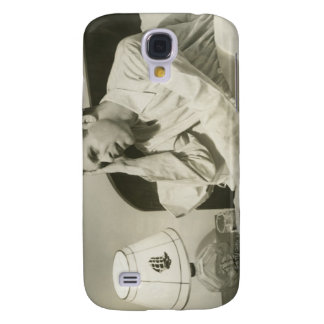 Man Drinking Water Galaxy S4 Cases