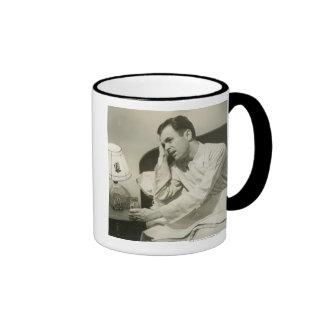Man Drinking Water Ringer Coffee Mug
