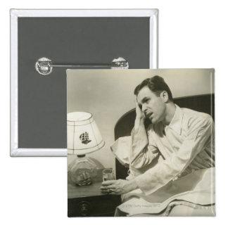 Man Drinking Water Pinback Button
