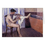 Man Drying Leg by Caillebotte Card