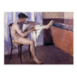 Man Drying Leg by Caillebotte Postcard