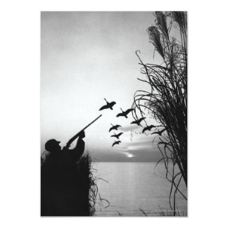 Man Duck Hunting Card