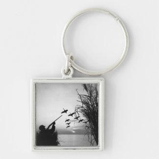 Man Duck Hunting Key Chains