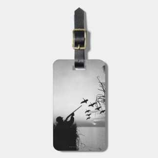 Man Duck Hunting Luggage Tag
