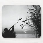 Man Duck Hunting Mouse Pad