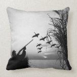Man Duck Hunting Pillow