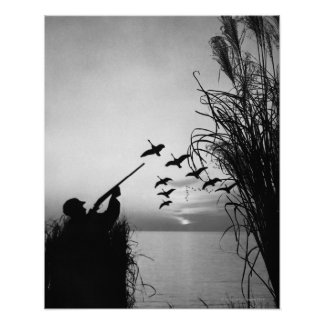 Man Duck Hunting Poster
