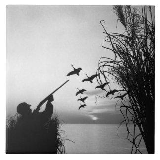 Man Duck Hunting Tile