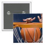 Man dunking basketball pinback button
