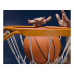 Man dunking basketball posters
