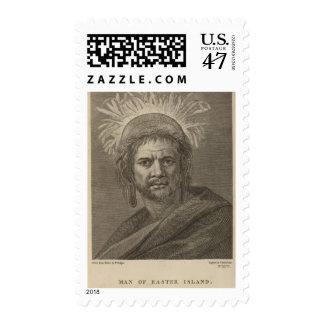 Man, Easter Island Postage Stamp