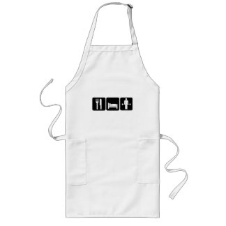 Man Eat Sleep Lift Weights Long Apron