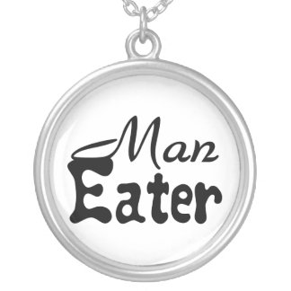 Man Eater Silver Plated Necklace