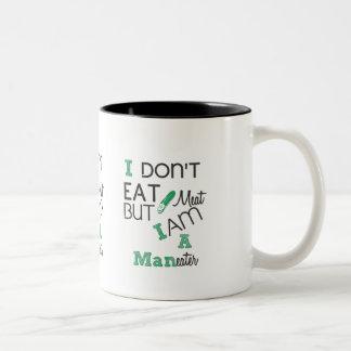 Man eater Two-Tone coffee mug