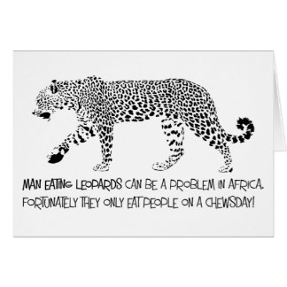 Man Eating Leopard Birthday Card