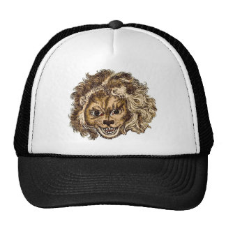 MAN-EATING LION TRUCKER HAT