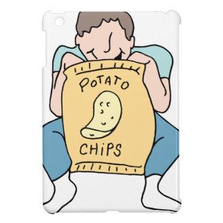 Man eating potato chips iPad mini cases