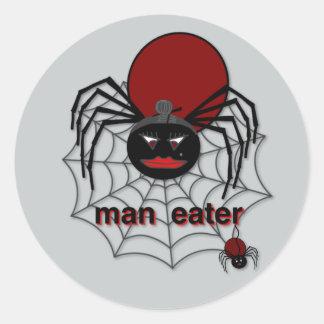Man-Eating Spider! Classic Round Sticker