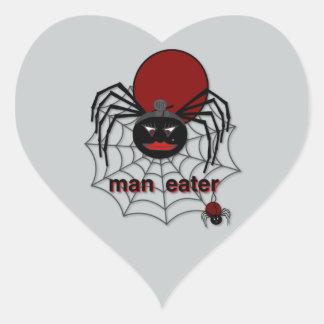 Man-Eating Spider! Heart Sticker