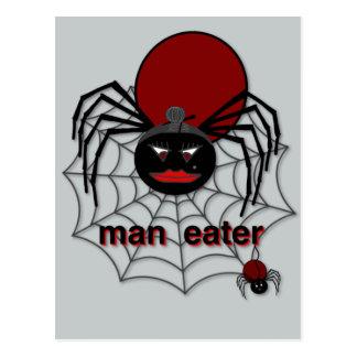 Man-Eating Spider! Postcard