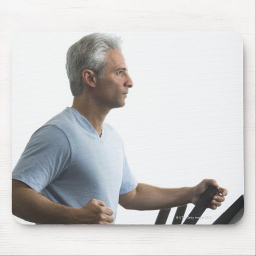 Man exercising on Stairmaster Mouse Pad