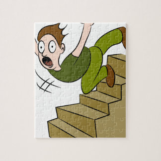 Man Falling Down Flight of Stairs Jigsaw Puzzle