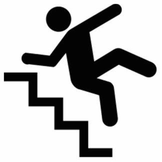 Man Falling Down the Stairs Cutout