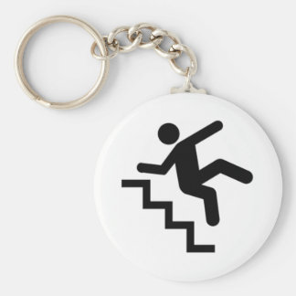 Man Falling Down the Stairs Key Chain