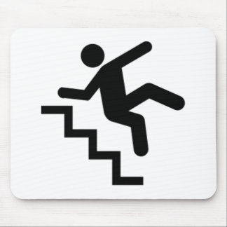 Man Falling Down the Stairs Mouse Pad