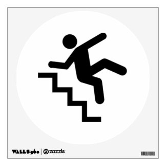 Man Falling Down the Stairs Room Graphic