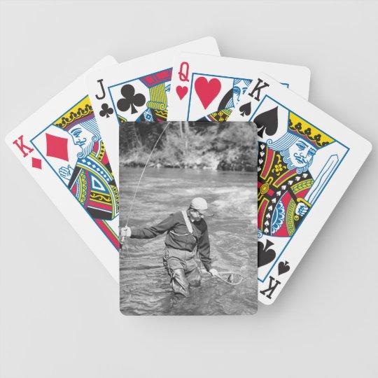 Man Fishing Bicycle Playing Cards