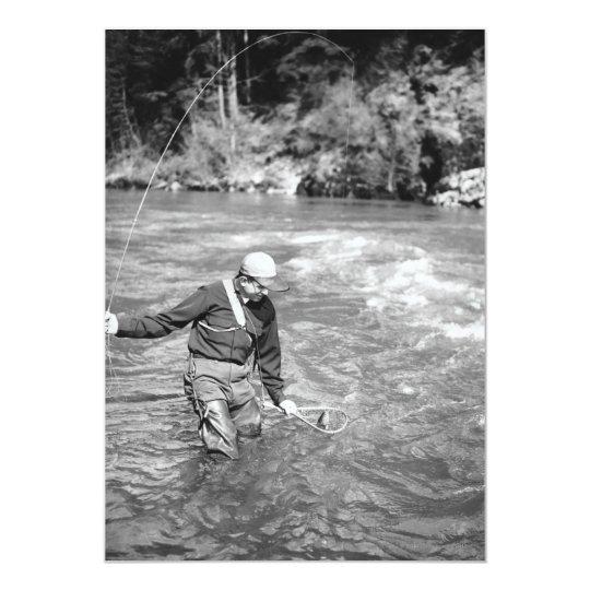 Man Fishing Card