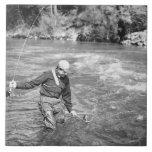 Man Fishing Ceramic Tiles