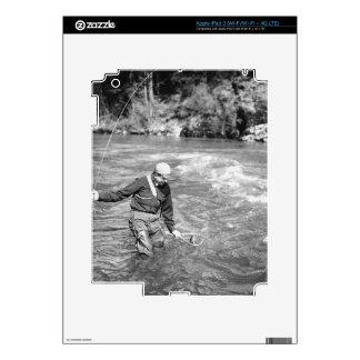 Man Fishing iPad 3 Skins