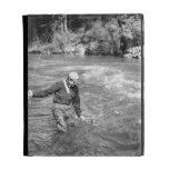 Man Fishing iPad Folio Case