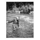Man Fishing Postcard